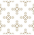 gold and white seamless pattern with crosses vector image