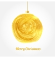 Golden watercolor painted Christmas ball vector image vector image