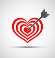 heart icon as a target with an arrow vector image vector image