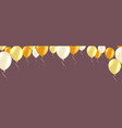 horizontal banner with golden and white helium vector image vector image