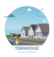 image townhouse located outside the city vector image