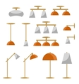 Interior lamp icon set vector image vector image