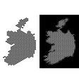 ireland republic map hexagon scheme vector image vector image