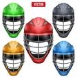 Lacrosse Helmets Set Front View vector image vector image