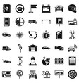 maintenance icons set simple style vector image vector image