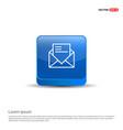 message - 3d blue button vector image
