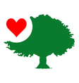 Nature love tree symbol vector image
