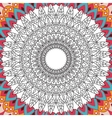 Printable coloring book page for adults - mandala vector image