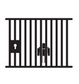 prison icon on white background flat style jail vector image vector image