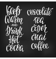 Quote Winter hot drink typography