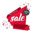 sale best discount 50 off abstract red sale banne vector image vector image