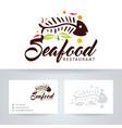 seafood restaurant logo design vector image vector image