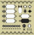 set black parallel lines design elements icons vector image
