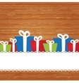 Set Christmas card with holiday elements vector image vector image