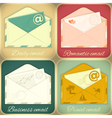 set email concept vector image vector image
