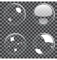 Set of transparent bubbles vector image vector image