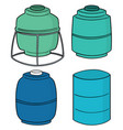 set of water storage tank vector image