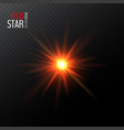shining bright abstract red star vector image