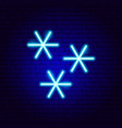 snowflakes neon sign vector image vector image