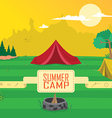 summer camp clipart vector image vector image