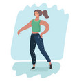 the dancing girl moving vector image