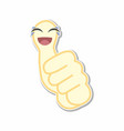 thumb emoticon stickers vector image vector image