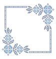 Traditional Ukrainian cross-stitch embroidery vector image