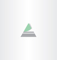 triangle icon letter a logo vector image vector image