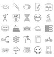 university icons set outline style vector image vector image