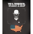 wanted poster vector image