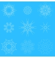 White Snow Flakes vector image vector image