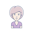 girl avatar vector image