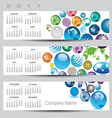 2017 calendar globe banners vector image vector image