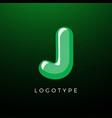 3d playful letter j kids and joy style symbol vector image vector image