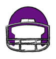 american football helmet equipment protection vector image vector image