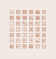 art deco coffee icons beige vector image vector image