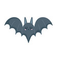 black bat animal open wings isolated icon vector image