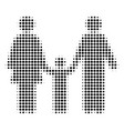 black dotted family child icon vector image