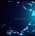 blue technology background with abstract shapes vector image vector image