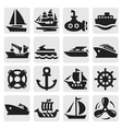 boat and ship icons set vector image