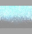 bright blue neon glare vector image vector image