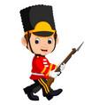 british guardsman cartoon vector image