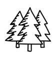 camping trees color icon design sign vector image