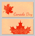 canada day beige background part of the maple leaf vector image vector image