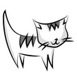 cat drawing on white background vector image vector image