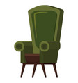 chair cute furniture armchair and seat pouf design vector image