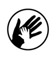 child and mother hands vector image vector image