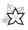 christmas flower decorative icon vector image