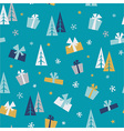 Christmas gifts - seamless pattern vector image vector image