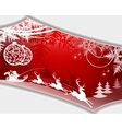 Christmas red design with frame vector image